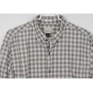 J CREW Large Slim Plaid Cotton Long Sleeve Shirt